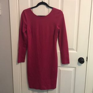 Banana Republic fuchsia mini dress